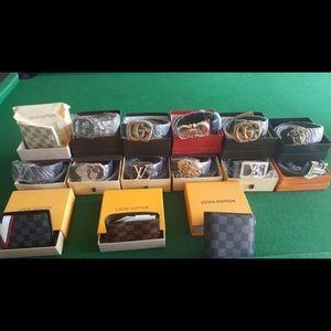 Designer belts and wallets